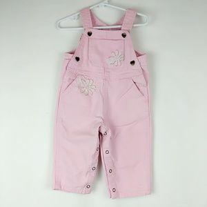 Carhartt Baby Girls Size 12 Months Pink bib overal